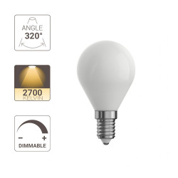 Ampoule LED dimmable P45 opaque Filament, E14 470 LM 2700 K