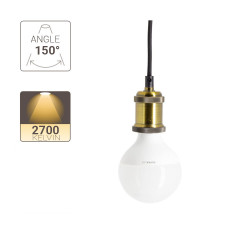 LED bulb (G95), E27 base, consumer 9,5W (eq. 60W), 806 lumen, warm white