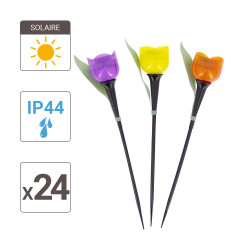 """Small """"Tulip"""" solar LED post, Warm white, IP44 - Outdoor Special"""