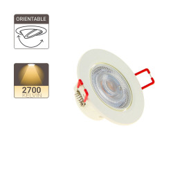 Integrated LED spotlight - 345 lumens - warm white