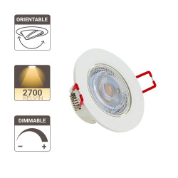 Spot LED intégré Orientable - 345 lumens - Intensité variable