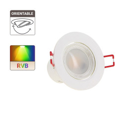 LED integrated spotlight - 345 lumens - colour-W