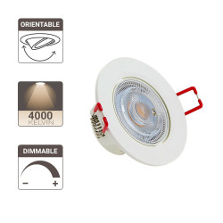 Lot de 3 spots à LED intégrés Orientables - 345 lumens - dimmable