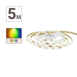 Digital RGB LED Ribbon (complete kit) - 5m - 4 animated & colored programs