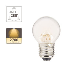 Ampoule LED Filament P45, culot E27, 6,5W cons. (60W eq.), 2700K Blanc Chaud